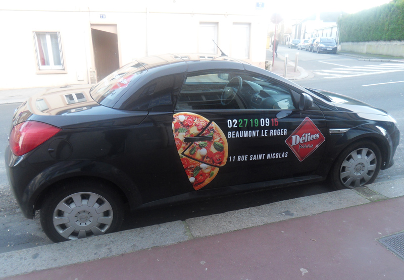 Flocage Délice Pizza Beaumont - 01